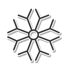 christmas snowflake isolated icon vector image vector image