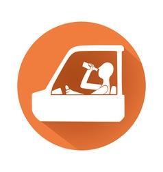 Drunk driving symbol vector image vector image