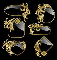 gold frames vector image vector image