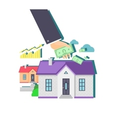 Invest in Real Estate Icon Flat Design vector image vector image
