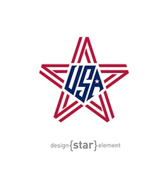 star with american flag colors Abstract design vector image vector image