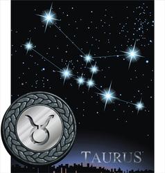 taurus zodiac sign bull logo vector image vector image