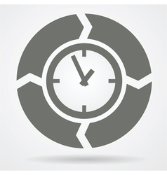 time cycle web icon vector image vector image