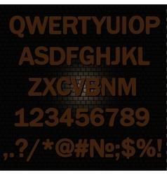Alphabet background-brick wall vector image vector image