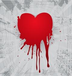 Bloody heart vector image vector image