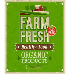 farm fresh color vector image vector image