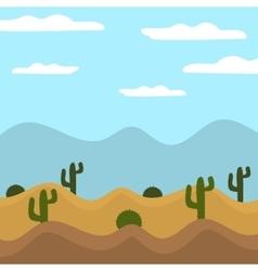 game background cactus desert heat journey cartoon vector image
