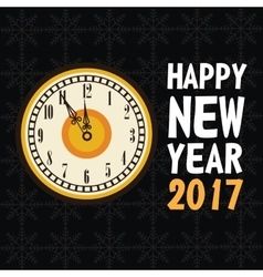 happy new year 2017 greeting card old clock vector image