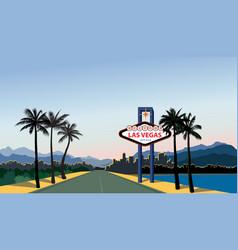las vegas city skyline travel usa background vector image