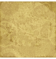 Old yellow grunge paper vector image