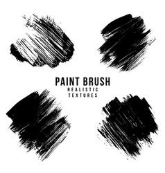 paint brush strokes texture vector image