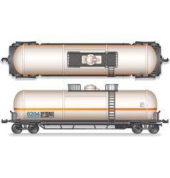 Railroad Gasoline and Oil Tank Set vector image vector image