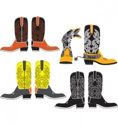 shoes cowboy vector image vector image