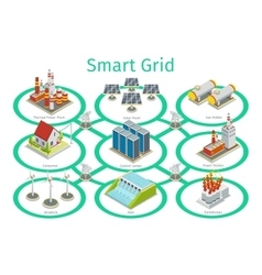 Smart grid diagram vector image