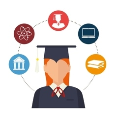 academic excellence design vector image