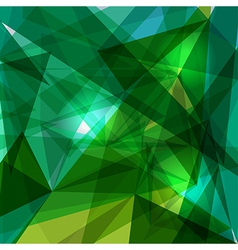 Blue and green geometric transparency vector image vector image