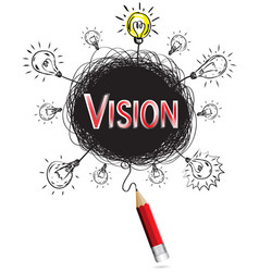 red pencil idea concept red vision business vector image vector image