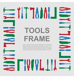tools frame 3 vector image