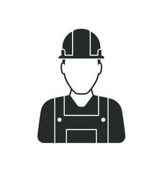 Workman with helmet person icon vector image