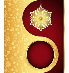 Christmas background with snowflakes design eps 10 vector image