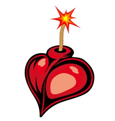 Heart bomb vector image vector image
