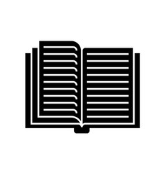 open book icon black sign on vector image vector image