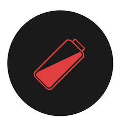 smartphone or cell phone low battery icon low vector image
