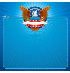 USA Poster Background vector image vector image