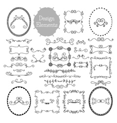 Vintage frames and decoration elements vector image