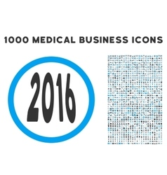 2016 perspective icon with 1000 medical business vector image