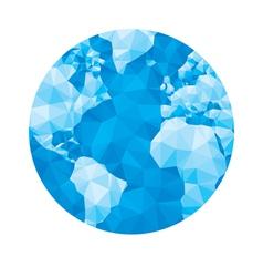 Abstract geometric globe vector