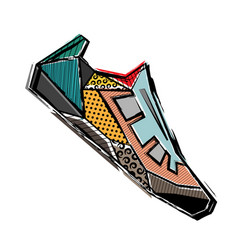 Abstract sport shoes vector