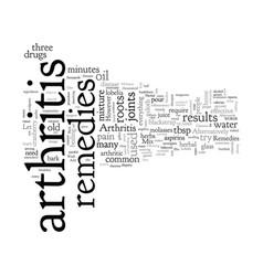 Arthritis remedies vector