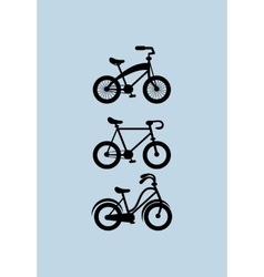 Assorted bikes image vector