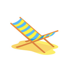 Beach chaise longue cartoon vector