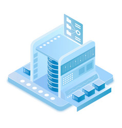 Big data technology isometric vector