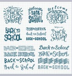 Big set welcome back to school labels vector