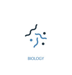biology concept 2 colored icon simple blue vector image