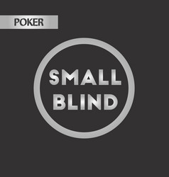 Black and white style small blind vector