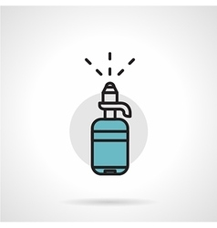 Bottle with pump flat line icon vector