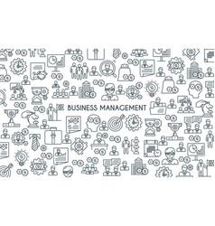 Business management line banner vector