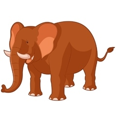 cartoon smiling elephant vector image