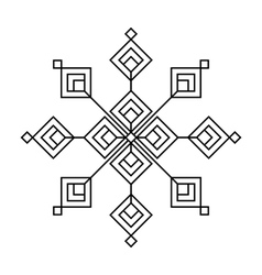 Christmas and winter - Black snowflake icon vector