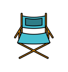 Cinema chair icon vector
