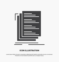 Code coding compile files list icon glyph gray vector