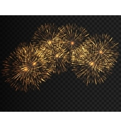 collection festive fireworks various colors vector image