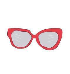 colored glasses vector image
