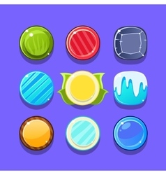 Colorful Candy Flash Game Element Templates Design vector image