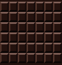 dark chocolate seamless pattern sweet texture vector image