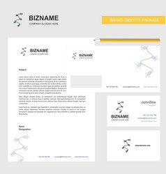decoration light business letterhead envelope and vector image